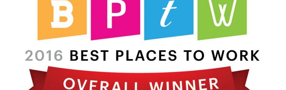Tampa Bay Business Journal 2016 Best Places to Work Winner